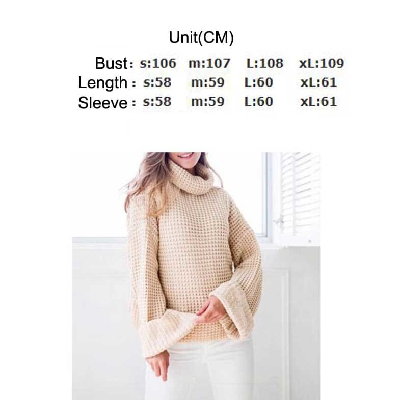 Autumn Knitted Sweater Women Long Loose Sleeve Sweaters Oversize