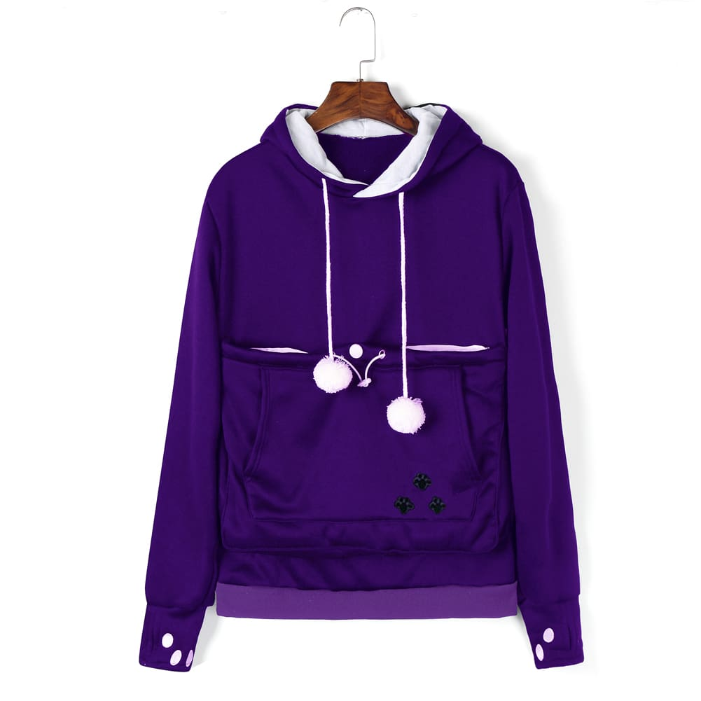 Womens Hoodie Sweatshirt Casual Hooded Jumper Top Autumn Winter Long Sleeve Pullover Outwear