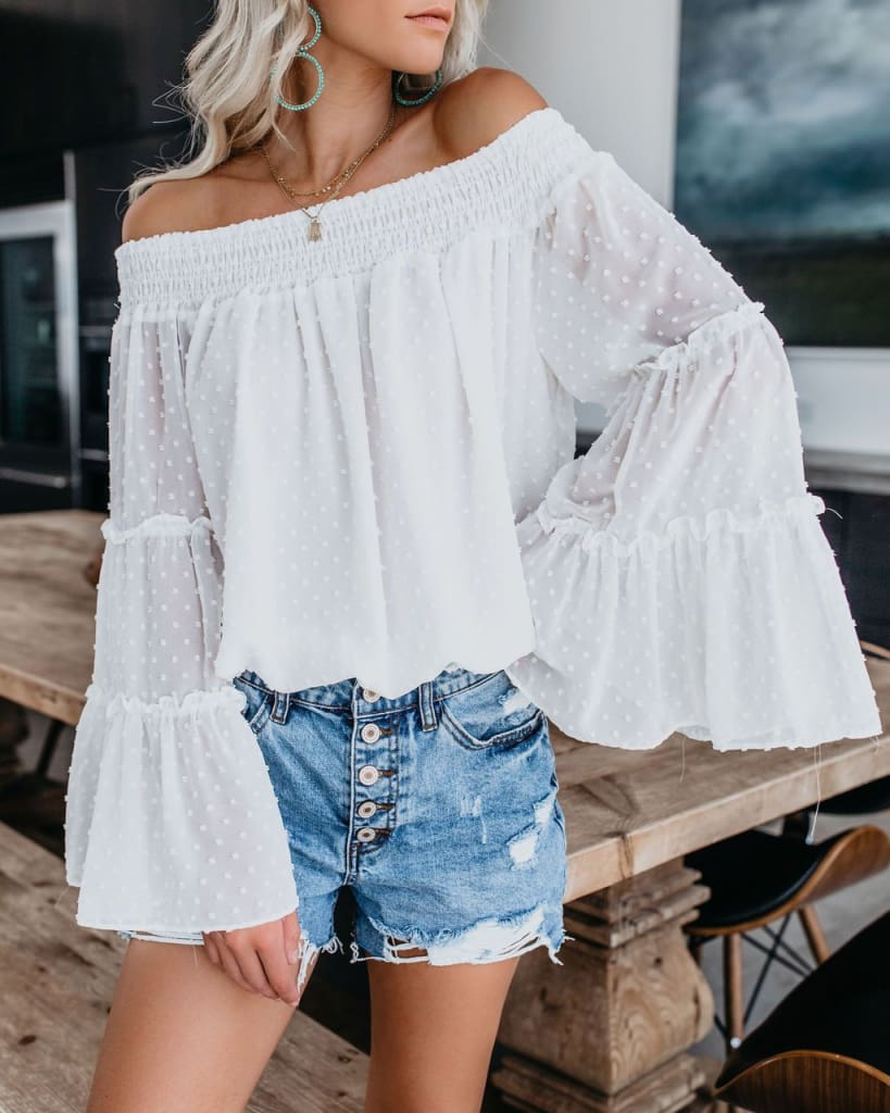 Elegant Womens Off Shoulder Long Sleeve Tops Ladies Sexy Pullover Loose Fashion T-shirt