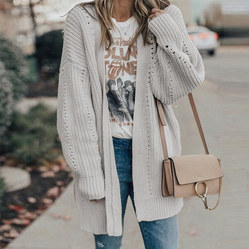 Autumn winter 2019 cardigans sweater ladies knitted long cardigans