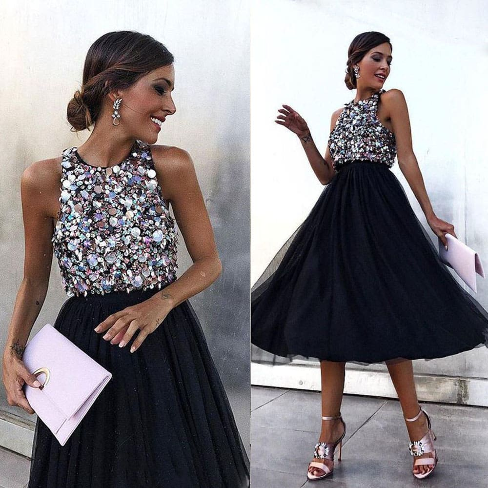 Fashion Women Lady Sequin Formal Evening Party Ball Prom Gown Cocktail Wedding Bridesmaid Maxi Dress
