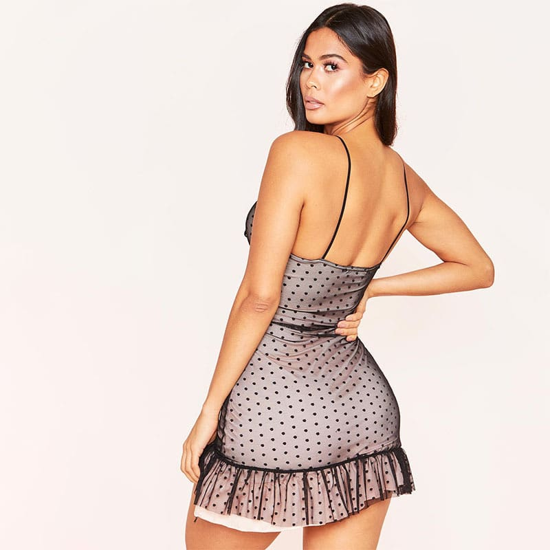 Women Sexy Strappy Bodycon Dress Mesh Sheer Sleeveless Sleepwear Evening Party Club Mini Vestidos Sunderss