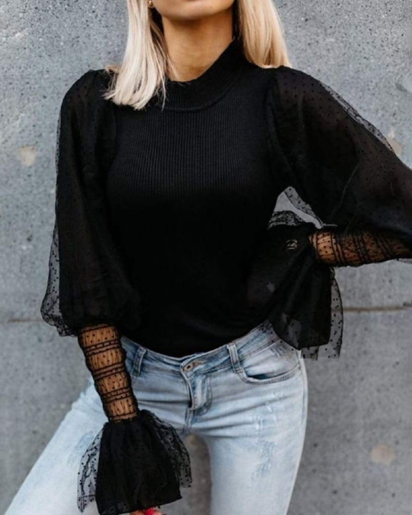 Women Tops Blouses Long Sleeve OL Shirt