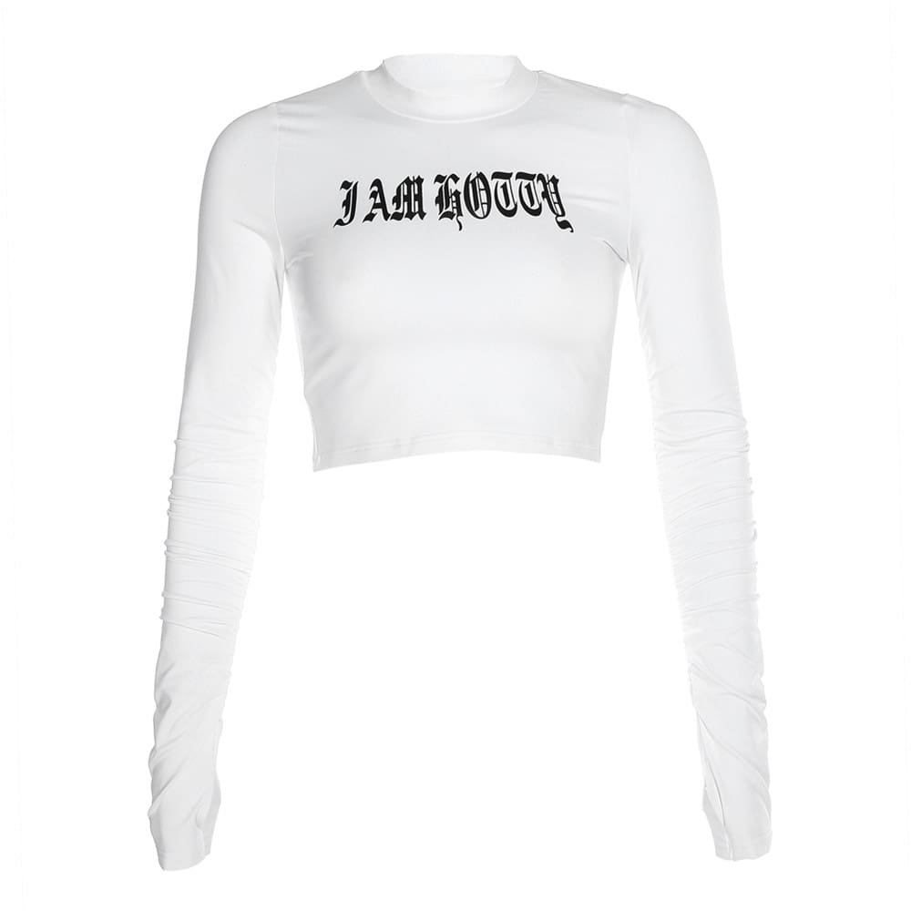 2019 Fashion New Womens Solid Long Sleeve Blouse Crew Neck Ladies Crop Tops Casual Autumn Tee Shirt Outwear