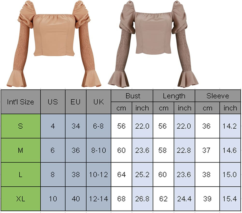 Womens Long Bell Sleeve Tops Square Neck Casual Tunics Crop Workout OL Shirt Blouse Tee Women Clothing