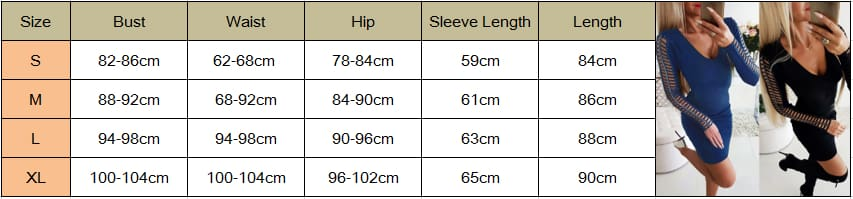 Autumn Winter Women Sexy Hollow Out Jumper Dress Long Sleeve Sexy Ladies V-Neck Bodycon Slim Mini Dress Clubwear