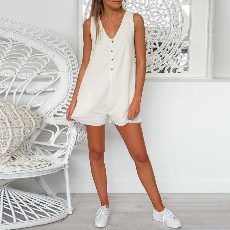 Womens Casual Playsuit Jumpsuit Beach Summer Holiday Shorts Romper Sexy Ladies Sleepwear Nightwear Clothes