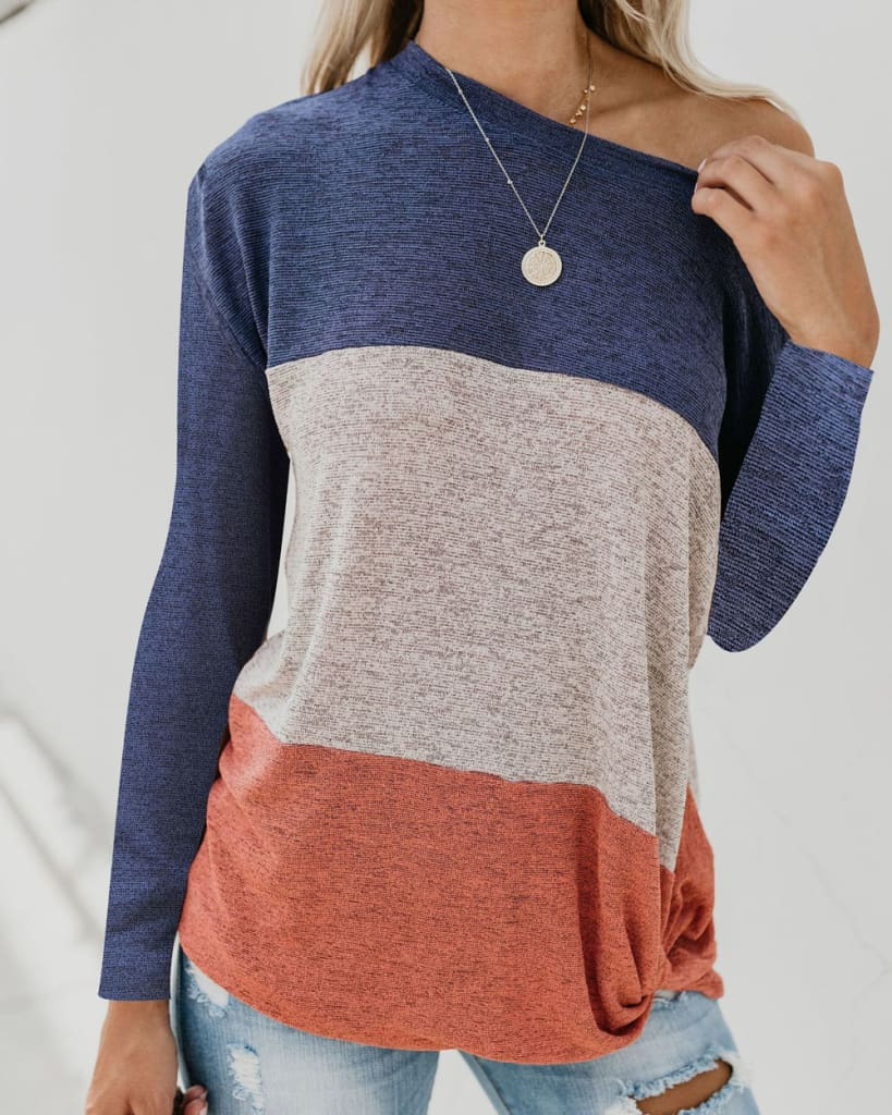 Long Sleeve Autumn Pullover Blouse Loose Baggy Jumper Shirt Top