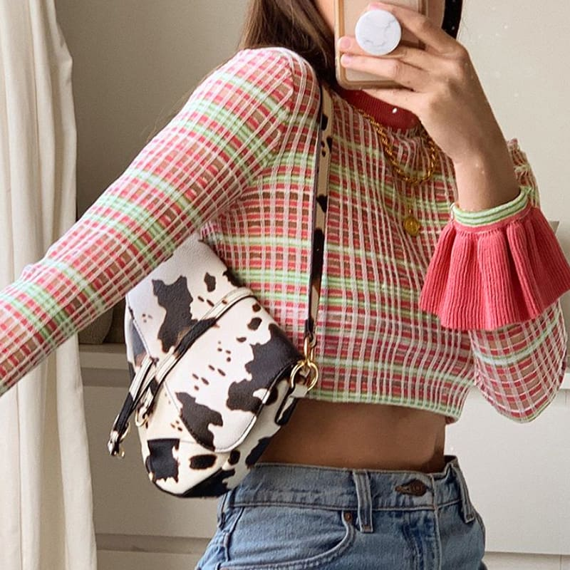 Women Short Tee Shirt Crew Neck Ruffle Long Sleeve Party Crop Tops Ladies Casual Holiday Bandage Wrap Top Shirt