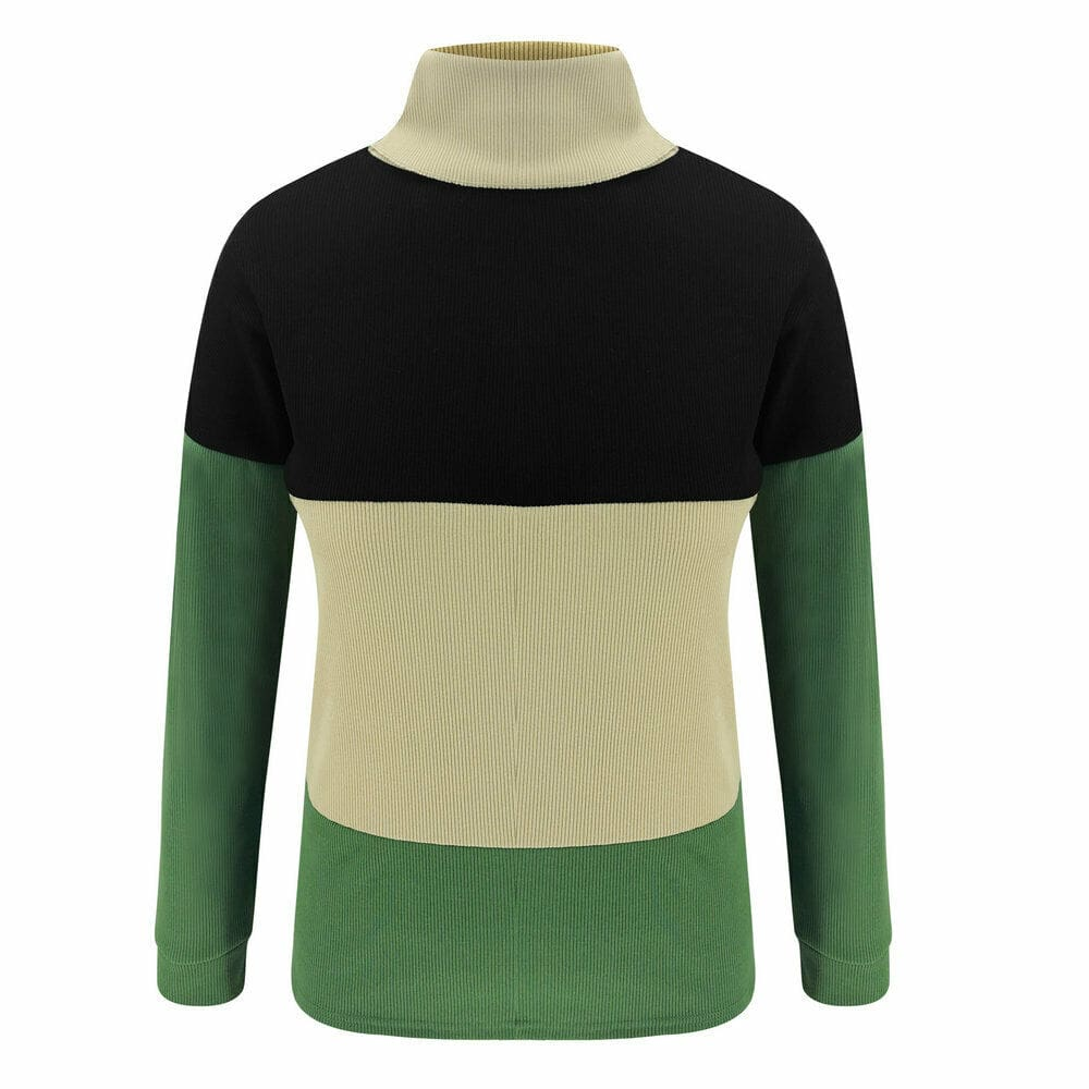 Fashion Women Loose Knitted Pullover Jumper Sweater High Neck Long Sleeve Tops