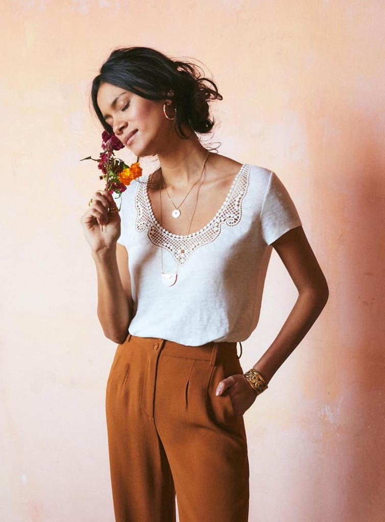 Casual T shirt Women Short Sleeve Loose Shirt Fashion Ladies Summer Casual V neck Lace Top Shirt Women Clothing