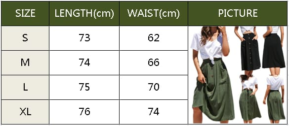2019 Fashion Sexy Women Summer Pocket Button Skirts High Waist Beach Dress Ladies Casual Holiday A-line Midi Skirts
