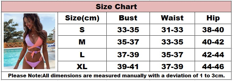 2PCS Womens Padded Bra Push-up Swimwear Bikini Set Swimsuit Bathings Swimming Costume