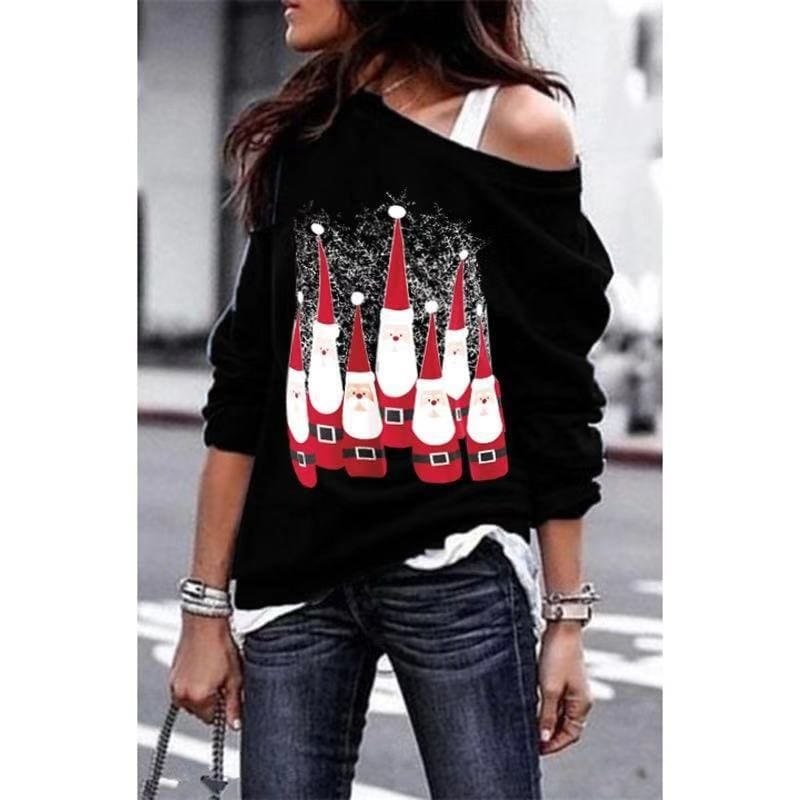 2019 Fashion Women Christmas Tree Tops Ladies Long Sleeve Casual Xmas Baggy O Neck Pullover Blouse Shirt