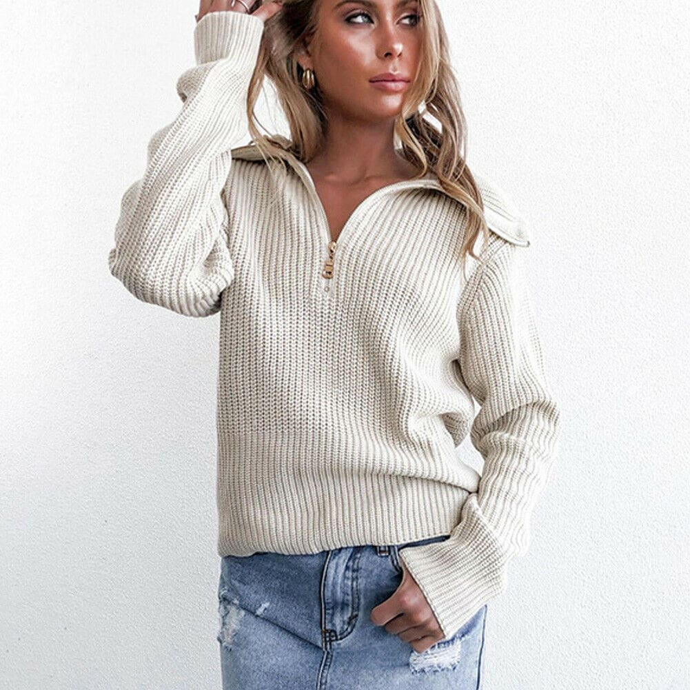 2019 Fashion Women Casual Knitted Sweatshirt Elegant Autumn Winter Ladies Tops Loose Pullover harajuku Hoodies Plain Streetwear