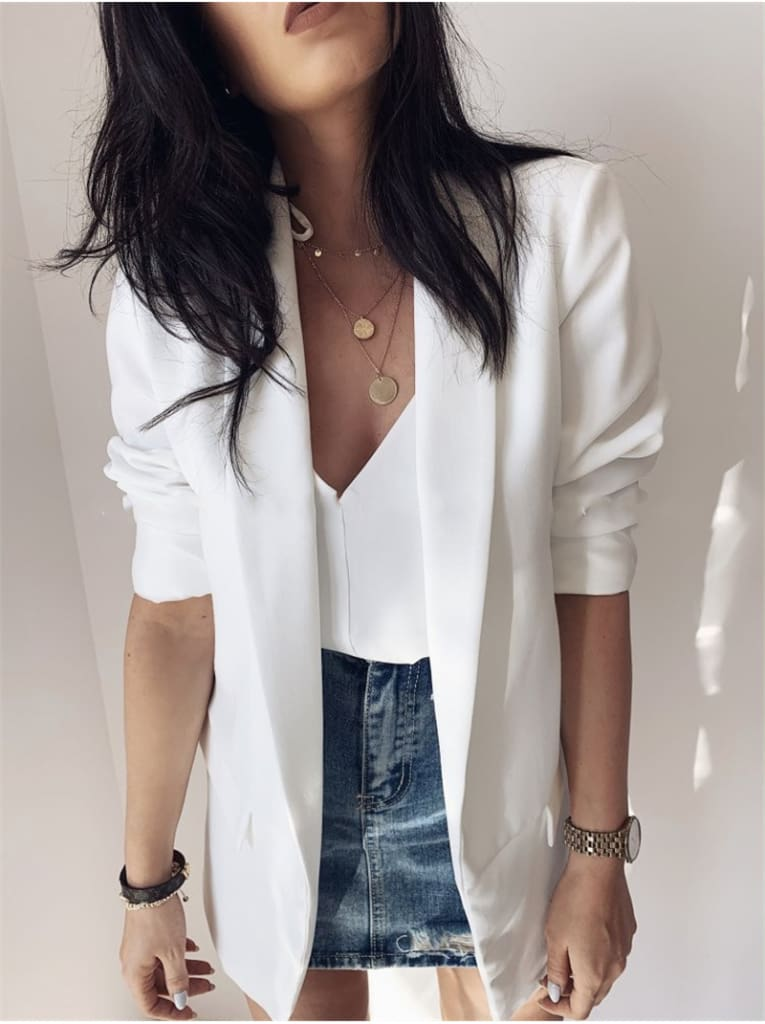 2019 Fashion Coat Women Autumn Winter Top Long Sleeve Office Lady Blazer Elegant vintage OL korean Blazer Streetwear