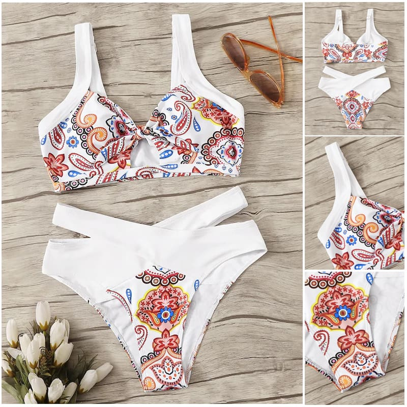 Womens Bikini Set Two-Pieces Push Up Padded Bra Bottom Bandage Swimsuit