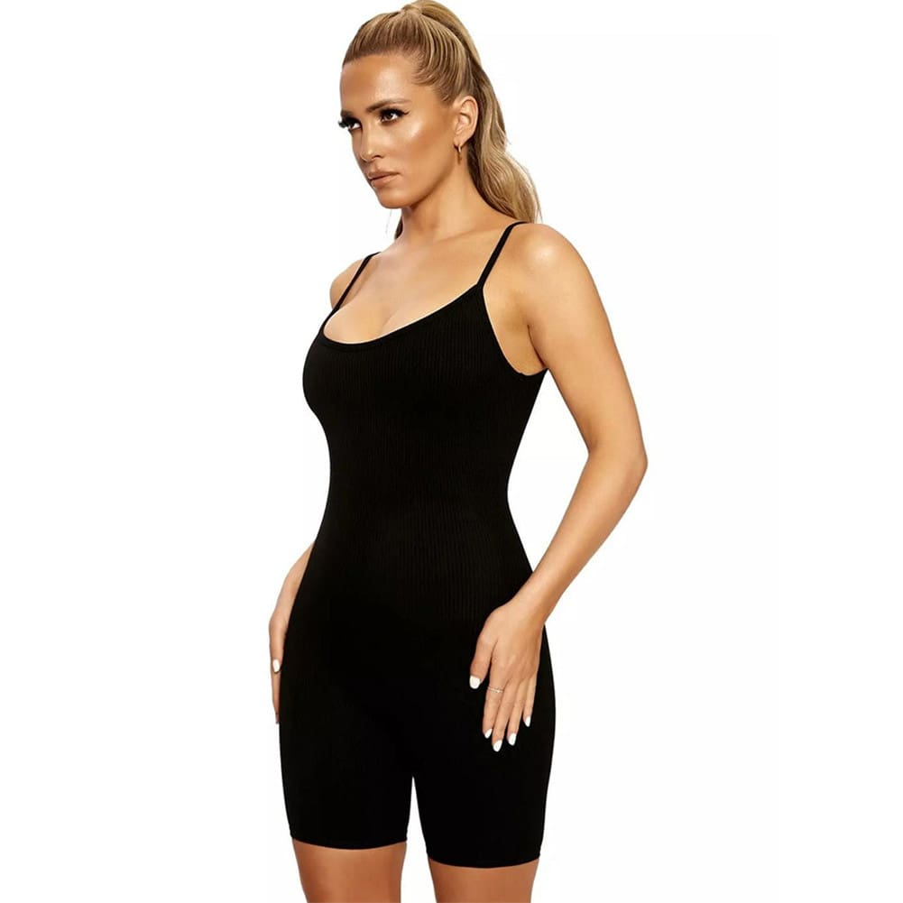 Women Sexy Backless Bodycon Jumpsuit Rompers Short Pants Summer Clubwear Party Casual Solid Playsuit