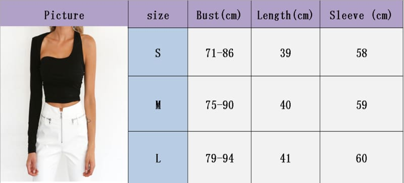 Womens One Shoulder Crop Top Long Sleeve Slim Vest Tank Tops Clubwear Cami Bralet Bra