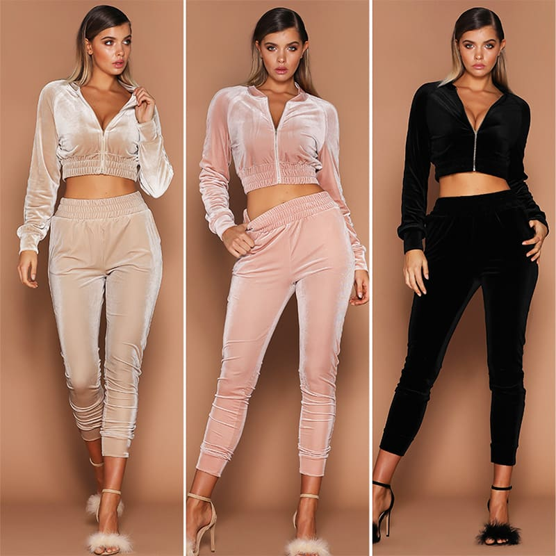 2Pcs Women Tracksuit Hoodies Sweatshirt Pants Sets Sexy Wear Casual Suit Ladies Womens Warm Long Sleeve Clothing