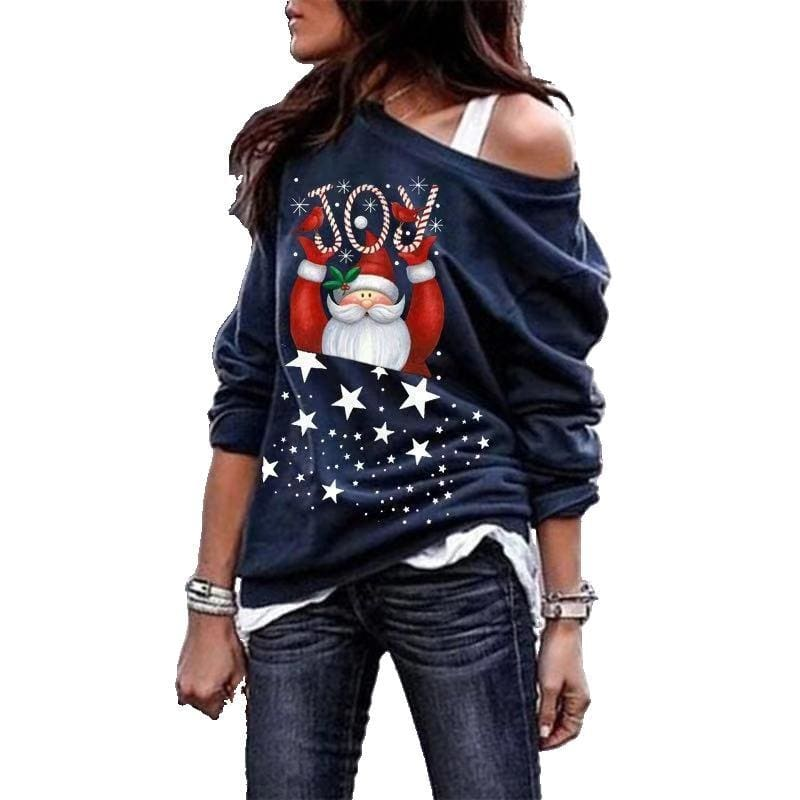 Fashion Women Christmas Hoodie Sweatshirt Jumper Autumn Winter Lady Sweater Xmas Pullover Casual Tops Blouse