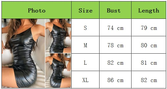 Womens PU Leather Dress Ladies Bandage Bodycon Sleeveless Evening Party Clubwear Mini Dress