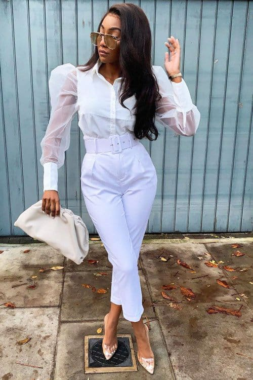 Autumn Women Ladies Puff Mesh Long Sleeve Tops Shirts Blouse Slim Fit Casual Office Work Clubwear Tops New