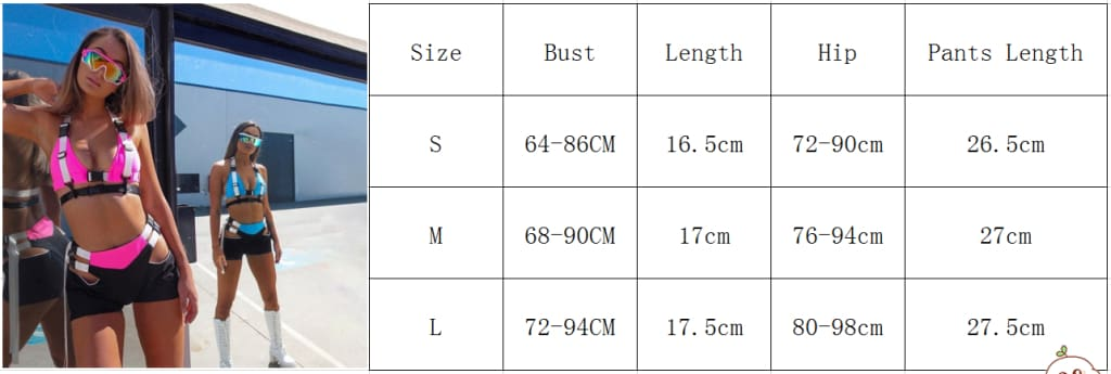 Fashion Cool Women Lady Two Pieces Buckle Tracksuit V-neck Halter Bra Tank Crop Tops