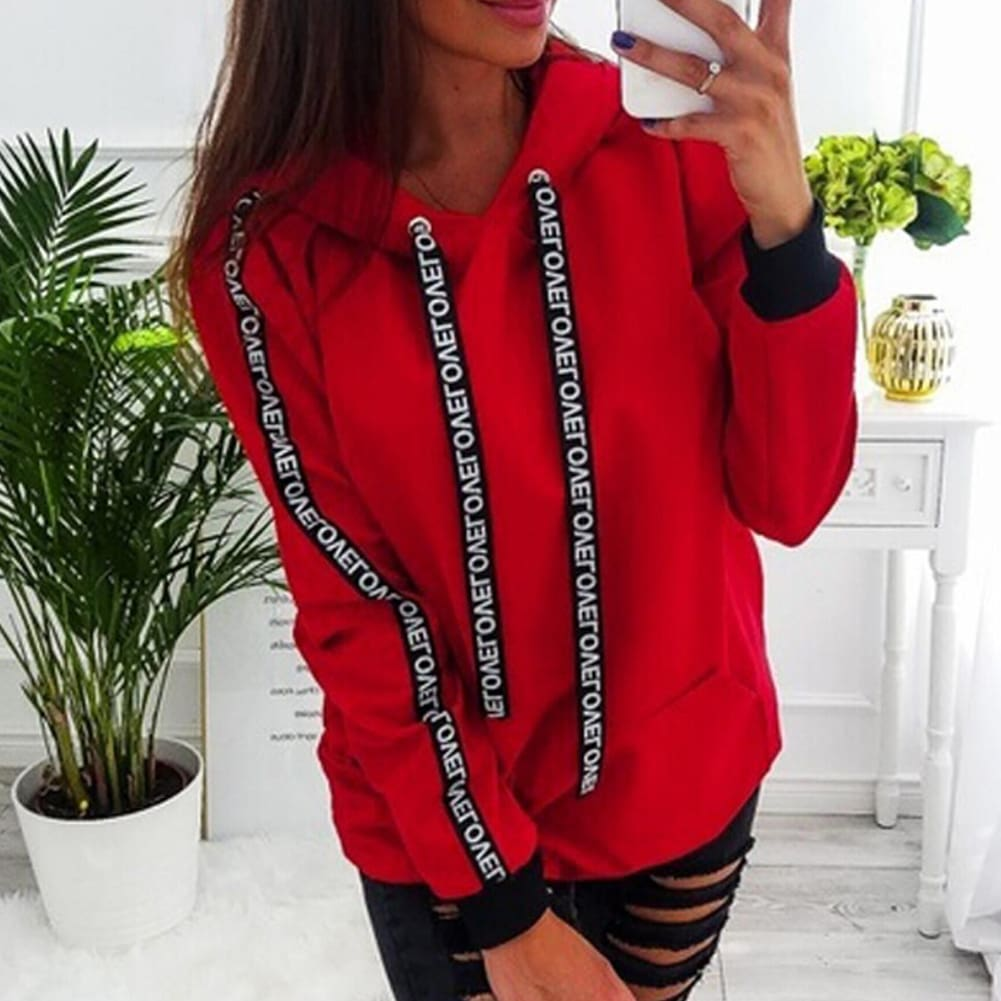 Fashion Women Autumn Winter Top Long Sleeve Sweatshirt Casual Ladies Hooded Hoodies