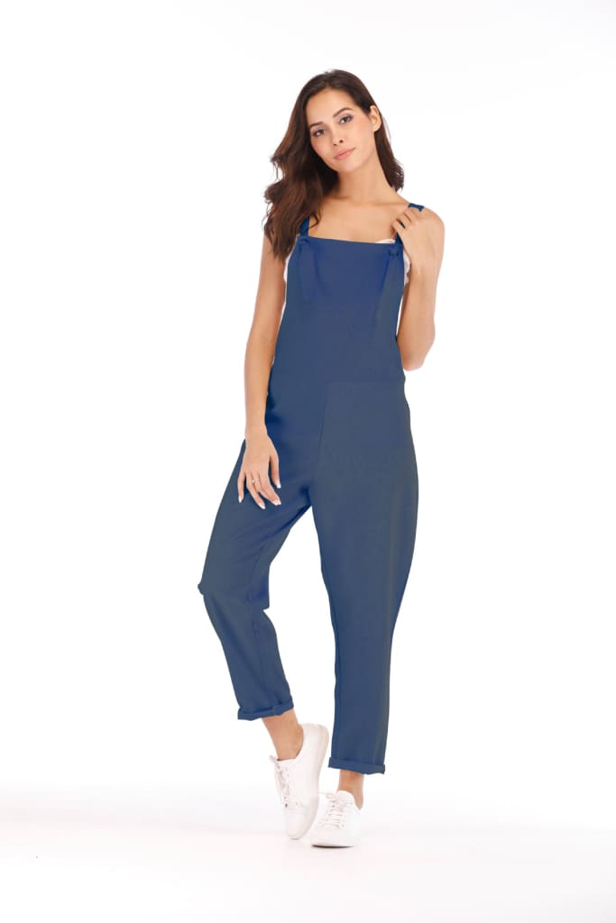 Boho Strap Jumpsuit Romper Holiday Clubwear Loose Wide Leg Pants Outfits