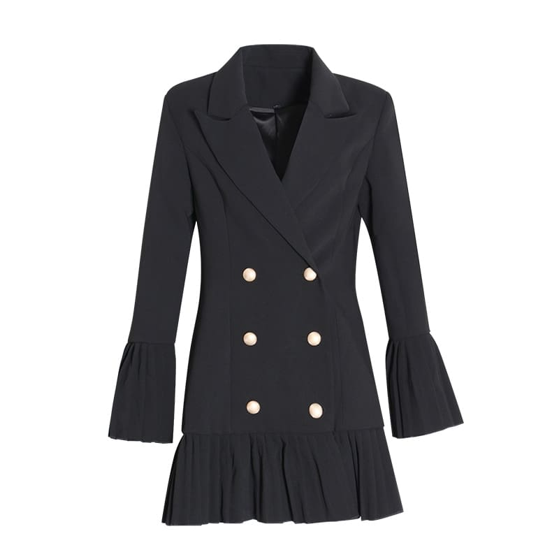 Slim Patchwork Coats For Women Lapel Collar Long Sleeve Jacket