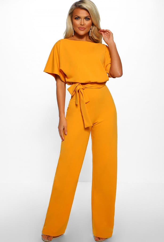 Women Jumpsuit Fashion Bodysuit Crew Neck Short Sleeve Summer Cool Romper Ladies Casual Long Strappy Playsuits