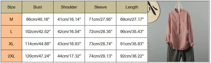 Womens Holiday Loose Button Pocket Shirt Ladies Linen Long Sleeve Tops