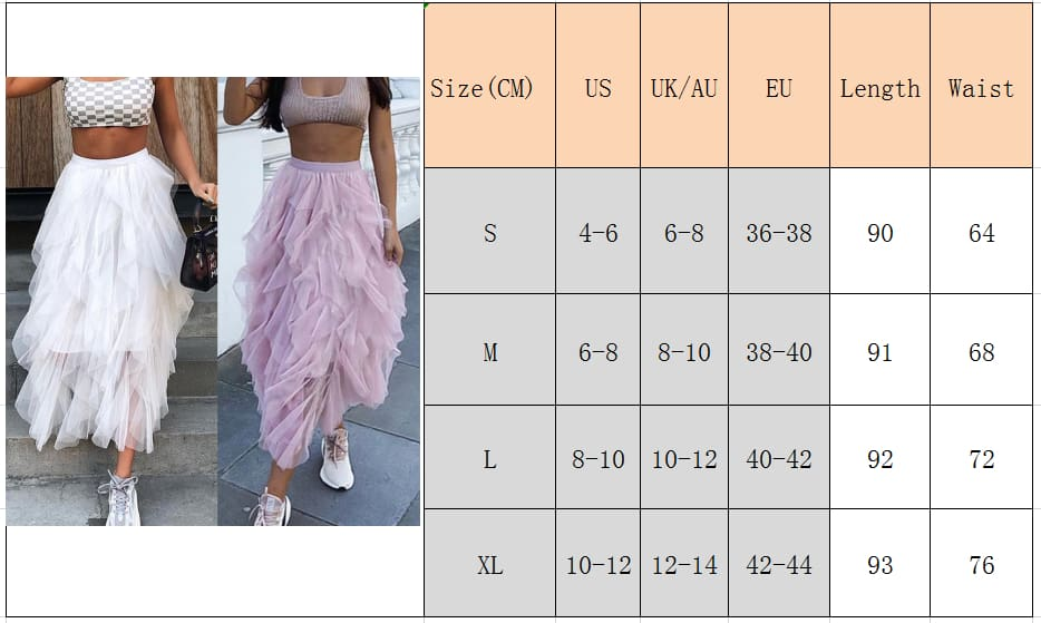 Fashion Women Girls Long Maxi Boho Skirt Summer Tulle Beach Holiday Elastic Waist Bridesmaid Wedding Party Skirt
