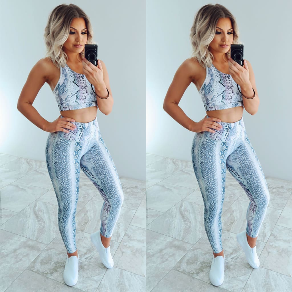 2pcs Women Outfits Set Running Vest Bra + High Waist Pants Gym Workout Casual Fitness Clothes Tights Sport Wear Tracksuit