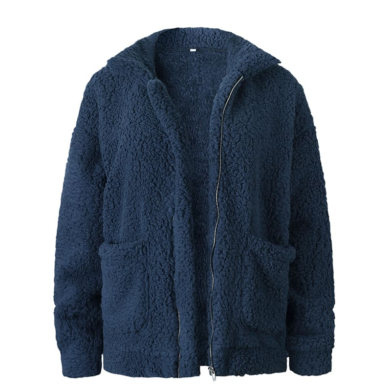 Fleece Faux Fur Winter Warm Teddy Bear Double Sided Cashmere Coat