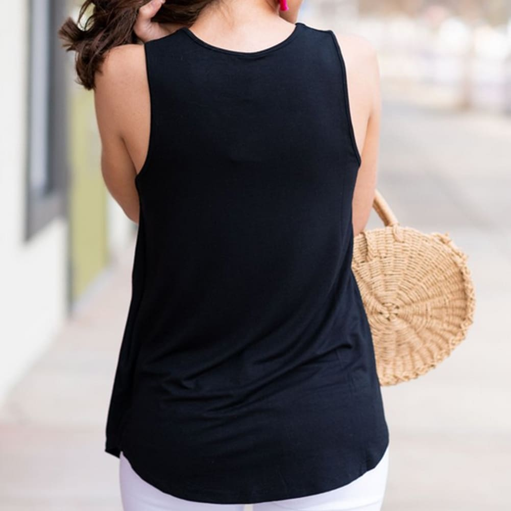 Women Vest Sleeveless Loose Camisole Ladies Solid Tank Tops Blouse Shirt Summer Clothes