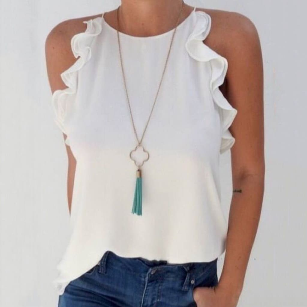 Women Sleeveless Loose Shirts Holiday Ladies Summer Casual Solid Blouse Tops Shirt Women Clothes