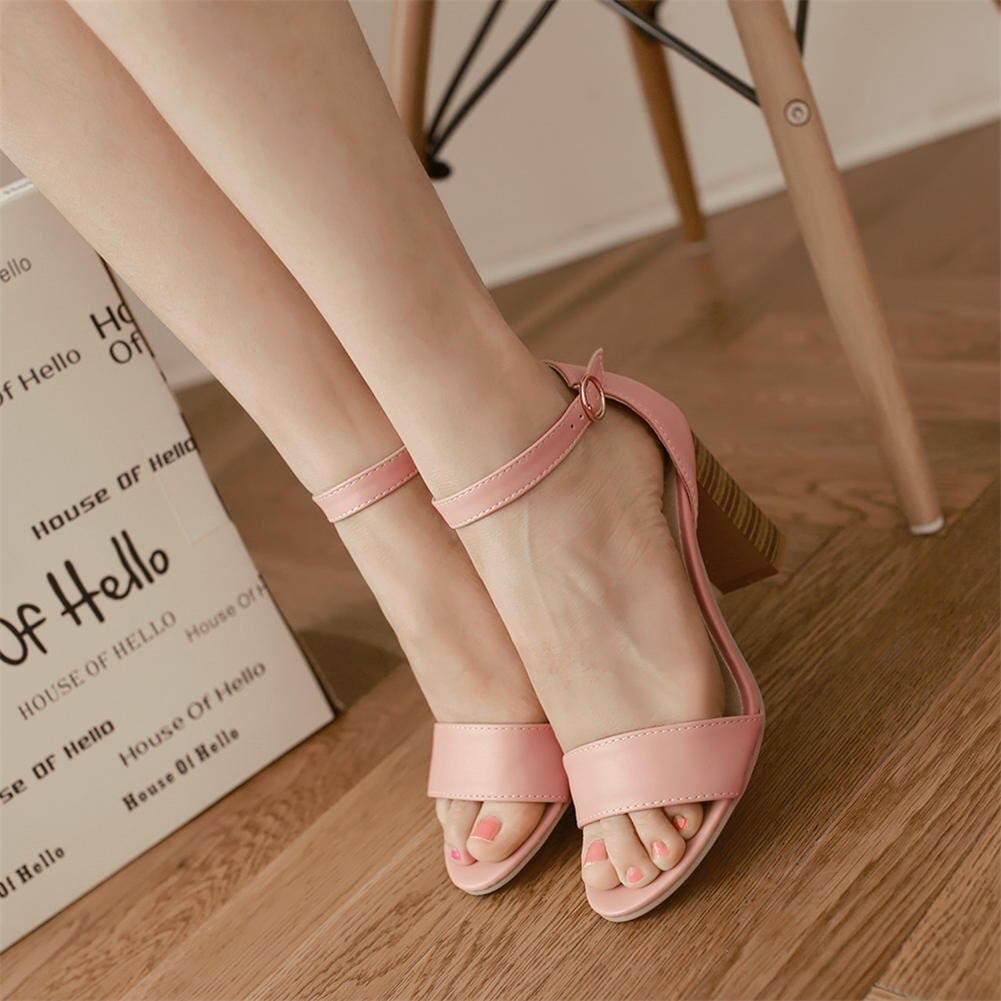 Leather high Heels classic Shoes Woman office lady sandals women shoes