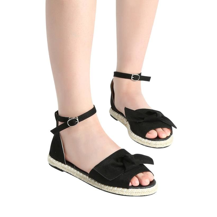 Womens Sandals Rome Flats Sandals Peep Toe Low Heels Sandalias