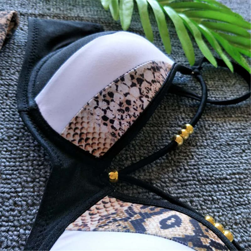 2Pcs Women Padded Push-up Bra Bandage Bikini Set Beach Swimsuit Bathing Suit Summer Swimwear Beachwear