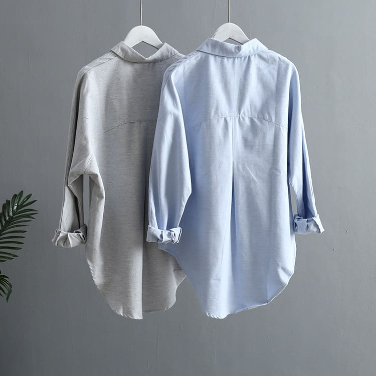 Women Blouse Korean Long Sleeve Tops And Vintage Women Shirts