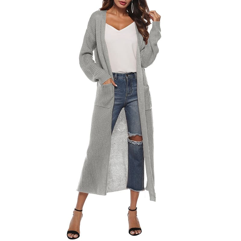 Women Long Sleeve Cardigan Knit Tops Knitwear Autumn Coat Outwear