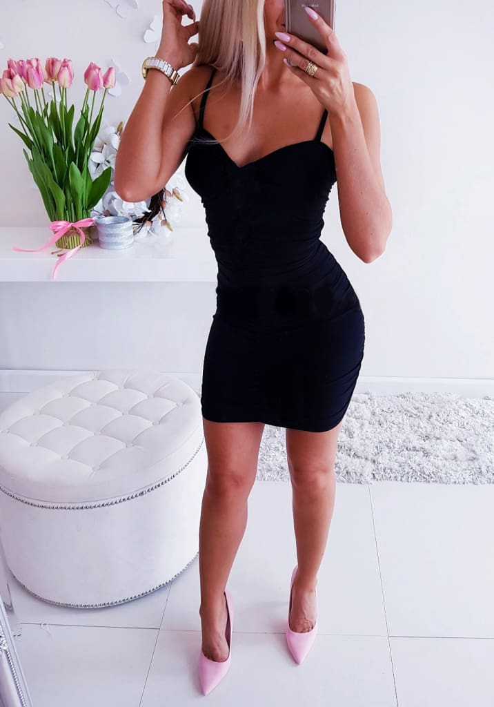 Womens Strappy Dress Stretchy Package Hip Bodycon Mini Dress