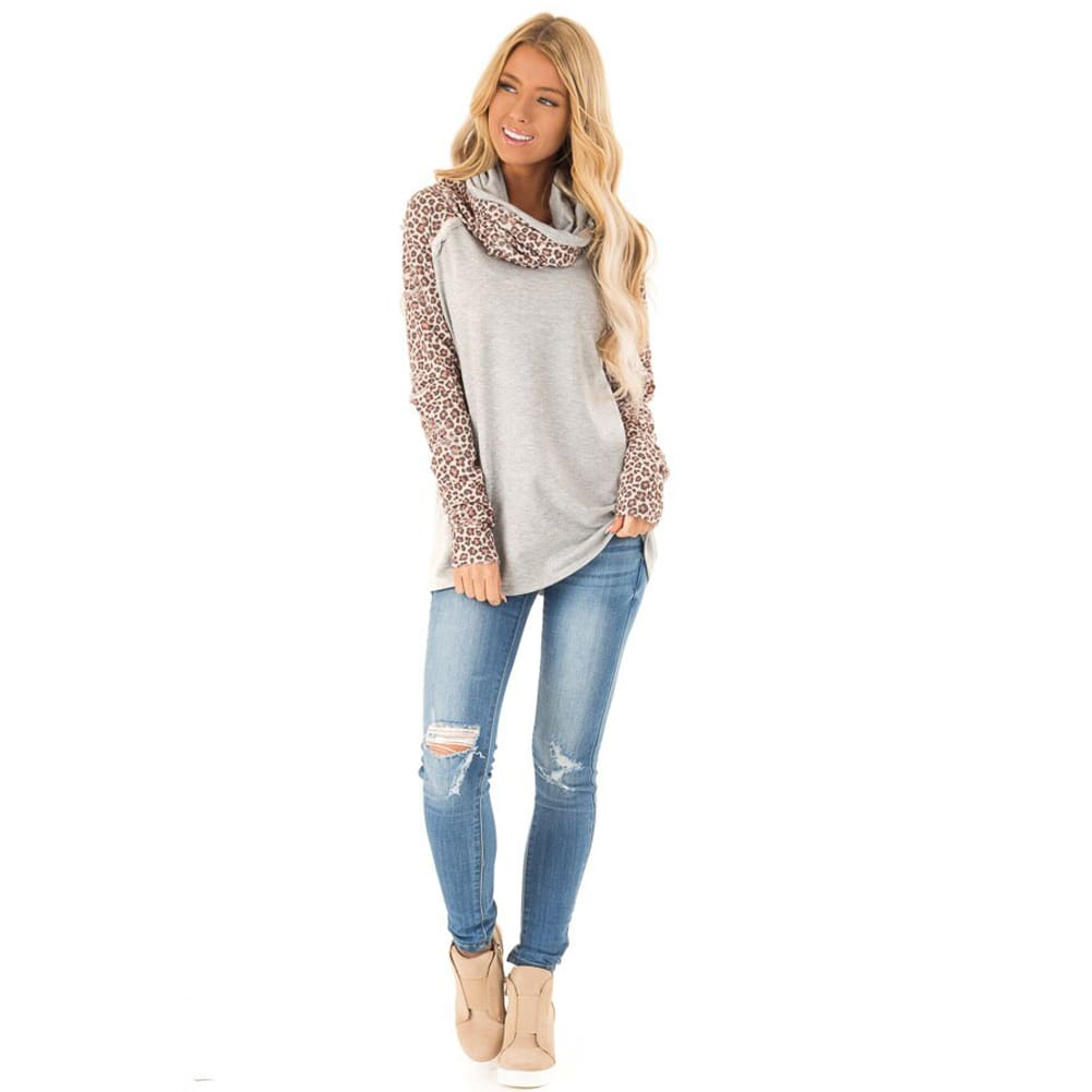 Women Long Sleeve Pullover Jumper Lady Autumn Winter Warm Sweatshirt Tunic Tops Casual Blouse Shirt