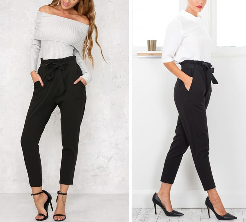 Up Pencil Pants Women Trousers High Waist Streetwear Vintage Pant