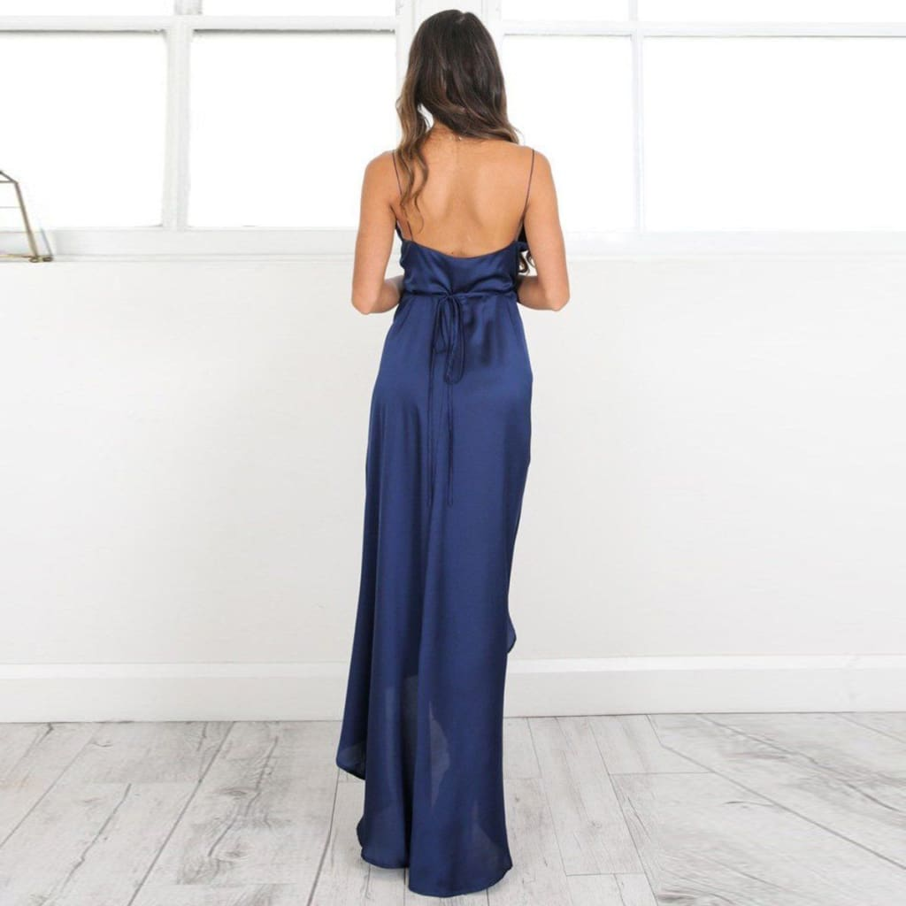 Boho Womens Maxi Formal Dress Elegant Ladies Sleeveless V-Neck Summer Evening Party Long Beach Sundress Wedding Gown