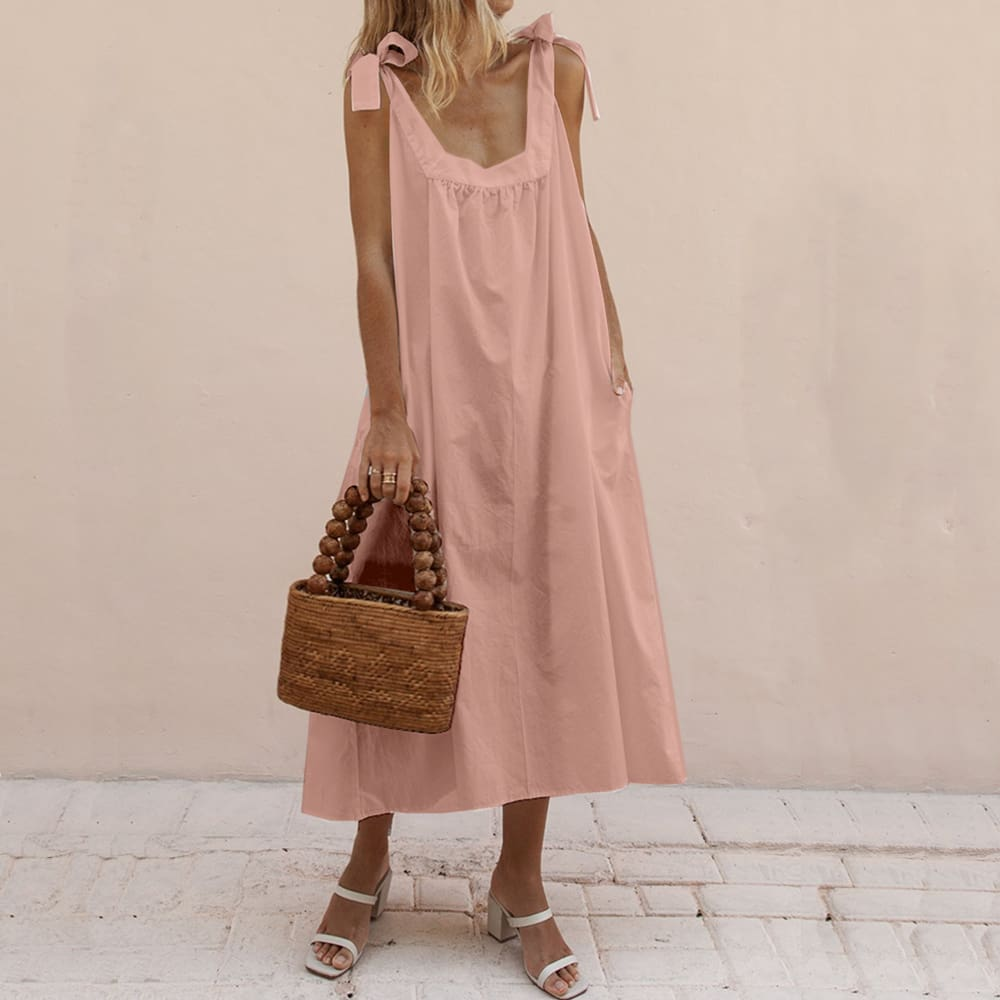 Fashion Women Ladies Summer Boho Holiday Strappy Floral Long Dress Sleeveless Casual Loose Party Beach Sundress New
