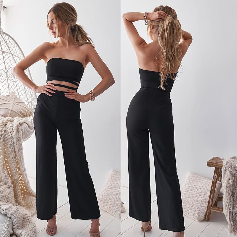 Womens Off Shoulder Wrapped chest Bodycon Skinny Jumpsuit Romper