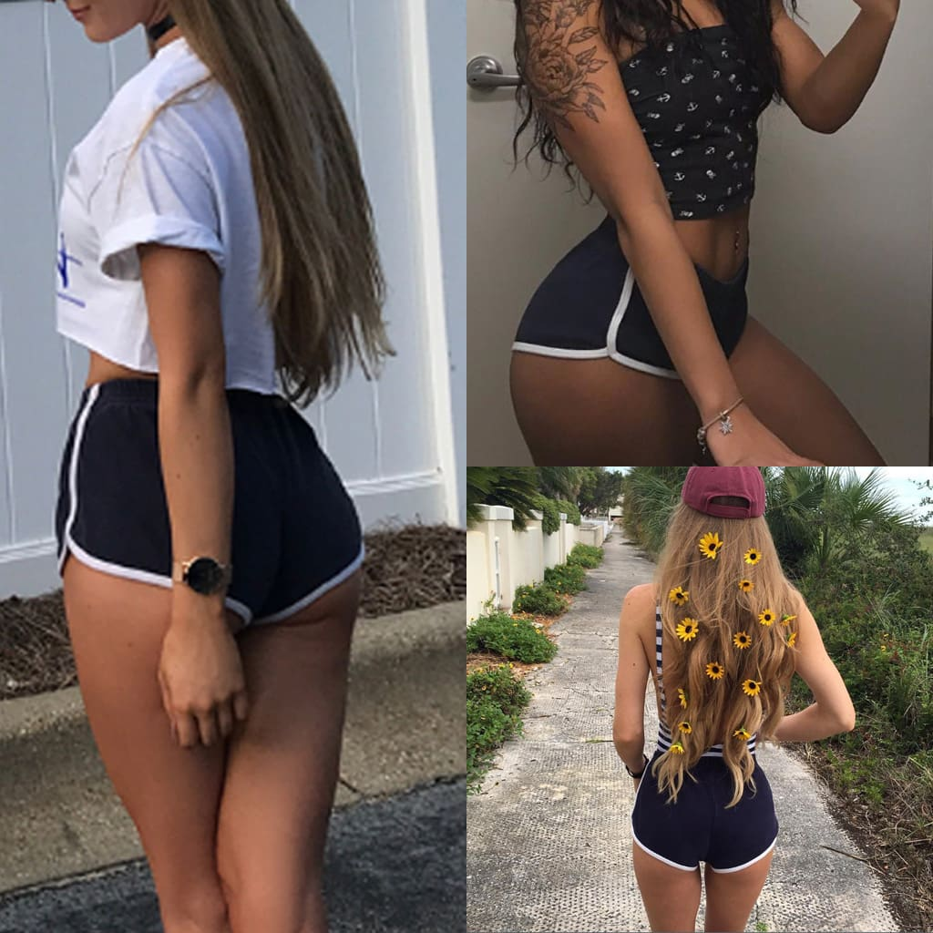 Fashion Stretch Waist Casual Shorts Woman High Waist Shorts Summer Beach Sexy Short Ladies Clothing